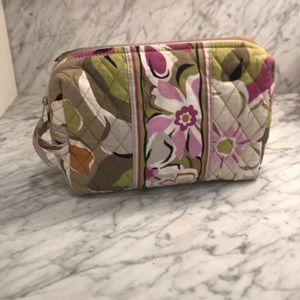 vera bradley plastic lined cosmetic bag